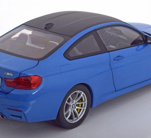 BMW M4 F82 Coupe 2014 Blauw Metallic 1-18 Paragon Models