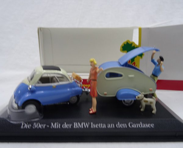 BMW Isetta met Caravan ( Gardameer )( Bella Italia )1-43 Atlas Collections