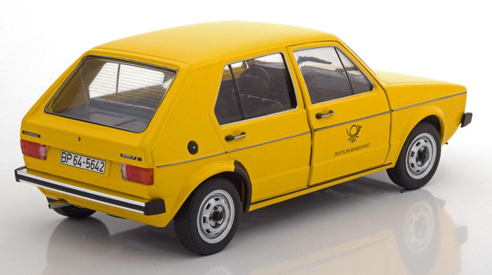"Volkswagen Golf MK1 1974-1978 ""Deutsche Bundespost""Geel 1-18 Solido"