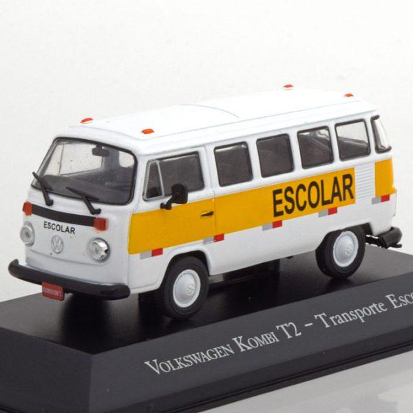 """Volkswagen Bus T2 """"Escolar """"Wit / Geel 1-43 Altaya"""