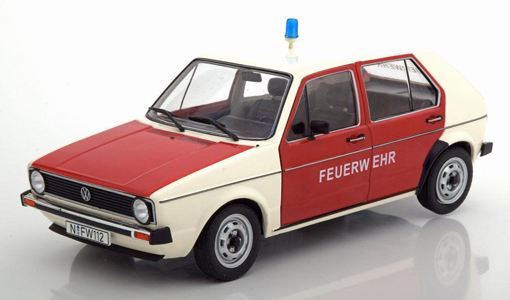 """Volkswagen Golf MK1 1974-1978 """"Feuerwher"""" Rood / Wit 1-18 Solido"""