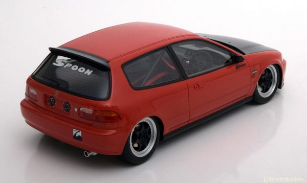 Honda Civic EG6 Spoon 1993 Group A Racing Rood / Zwart 1-18 Tarmac Works Limited 150 Pieces