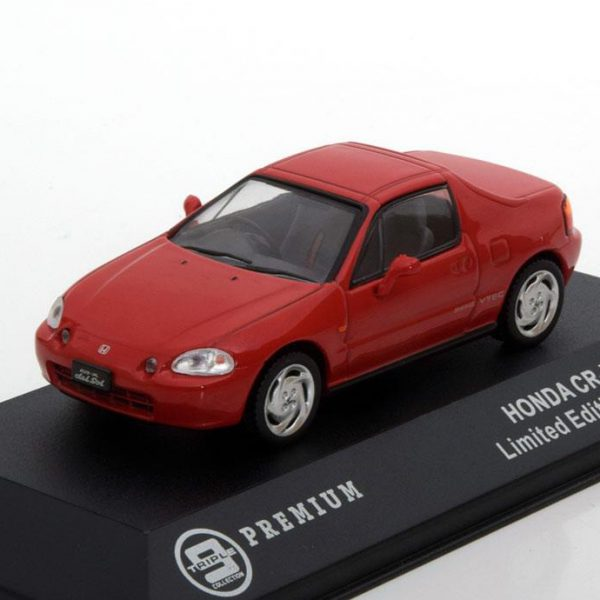 Honda CR-X Del Sol 1992 Rood 1-43 Triple 9 Collection Limited 1008 Pieces