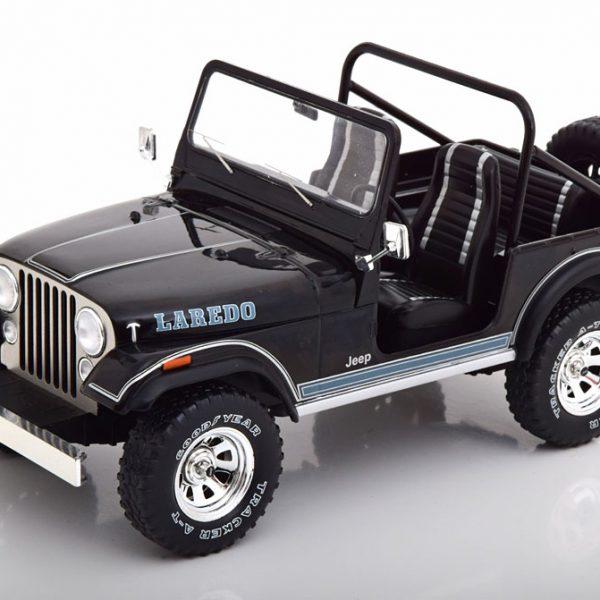 Jeep CJ-7 Laredo 1976 Zwart 1-18 MCG Models