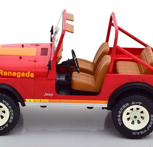Jeep CJ-7 Renegade 1976 Rood 1-18 MCG Models