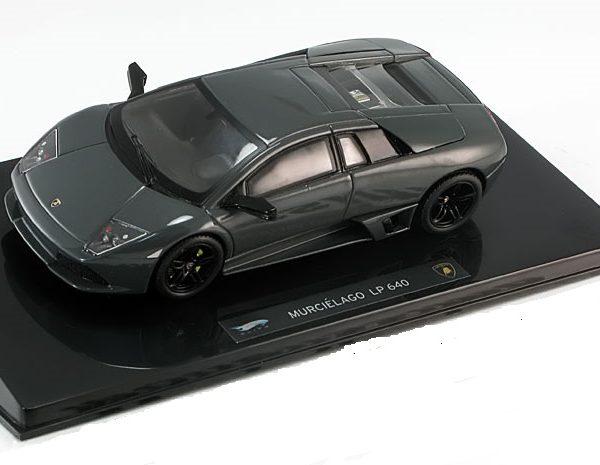Lamborghini Murcielago LP640 2007 Donkergrijs 1-43 Hotwheels Elite Limited 1000 Pieces