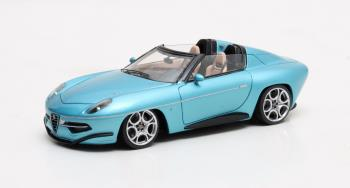 Aston Martin Touring Disco Volante Spyder 2016 1:43 Metallic Blauw Matrix Scale Models