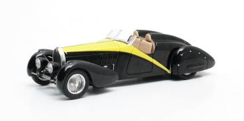 "Bugatti Type 57 Roadster ""Grand Raid ""Gangloff 1934 1:43 Zwart/Geel Matrix Scale Models Louwman Museum Collection Limited 408 pcs."