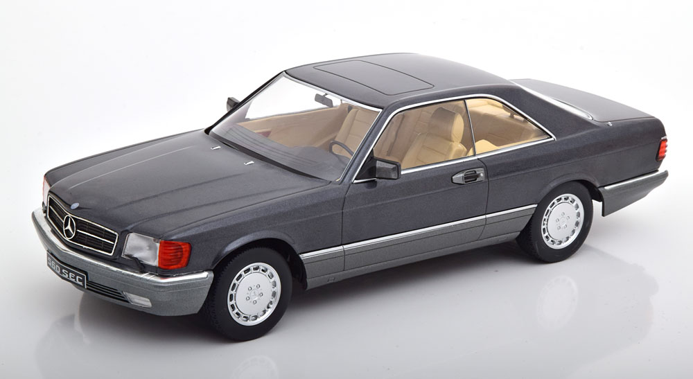 Mercedes-Benz 560 SEC 1985 ( C126 ) Antraciet 1-18 KK Scale Limited 1000 Pieces