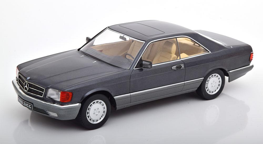 Mercedes-Benz 560 SEC 1985 ( C126 ) Antraciet 1-18 KK Scale Limited 1000 Pieces