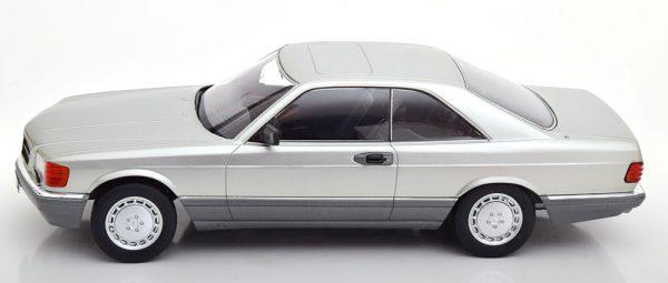 Mercedes-Benz 560 SEC 1985 ( C126 ) Zilver 1-18 KK Scale Limited 1000 Pieces