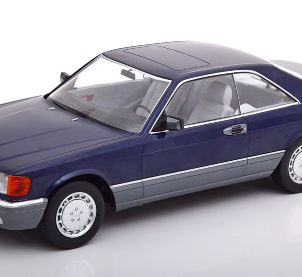 Mercedes-Benz 560 SEC 1985 ( C126 ) Blauw Metallic 1-18 KK Scale Limited 1000 Pieces