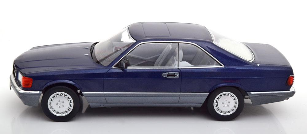 Mercedes-Benz 560 SEC 1985 ( C126 ) Blauw Metallic 1-18 KK Scale Limited 1000 Pieces