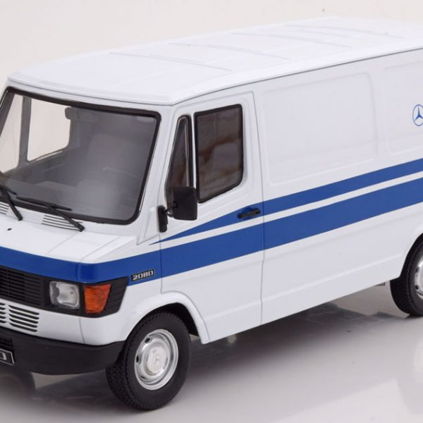 "Mercedes-Benz 208 D ""Mercedes Service""1988 Wit / Blauw 1-18 KK Scale Limited 500 Pieces"