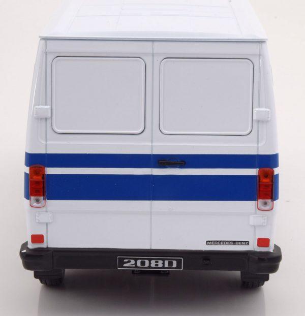 """Mercedes-Benz 208 D """"Mercedes Service""""1988 Wit / Blauw 1-18 KK Scale Limited 500 Pieces"""