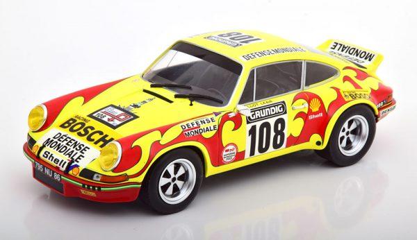 Porsche 911 RSR No.108 Rally Tour de France 1973 Morenas/Ballot-Lena 1:18 Geel/Rood Solido