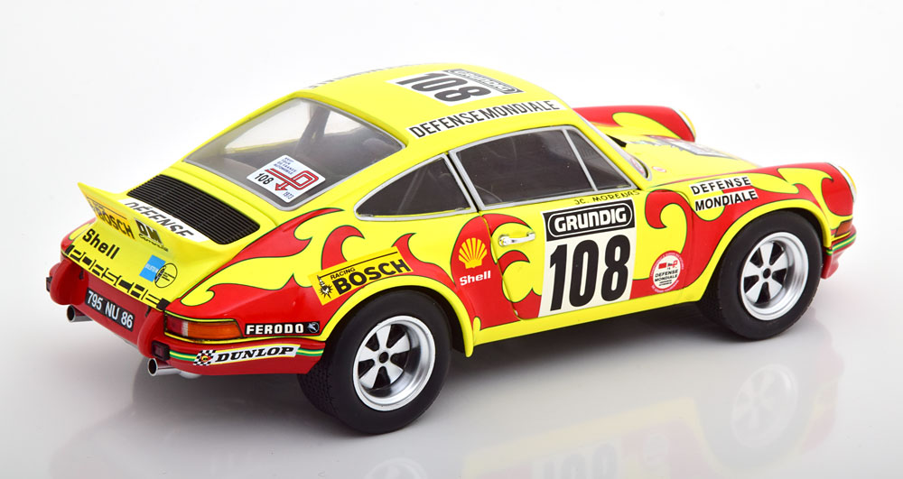 Porsche 911 RSR No.108 Rally Tour de France 1973 Morenas/Ballot-Lena 1:18 Geel/Rood Solido