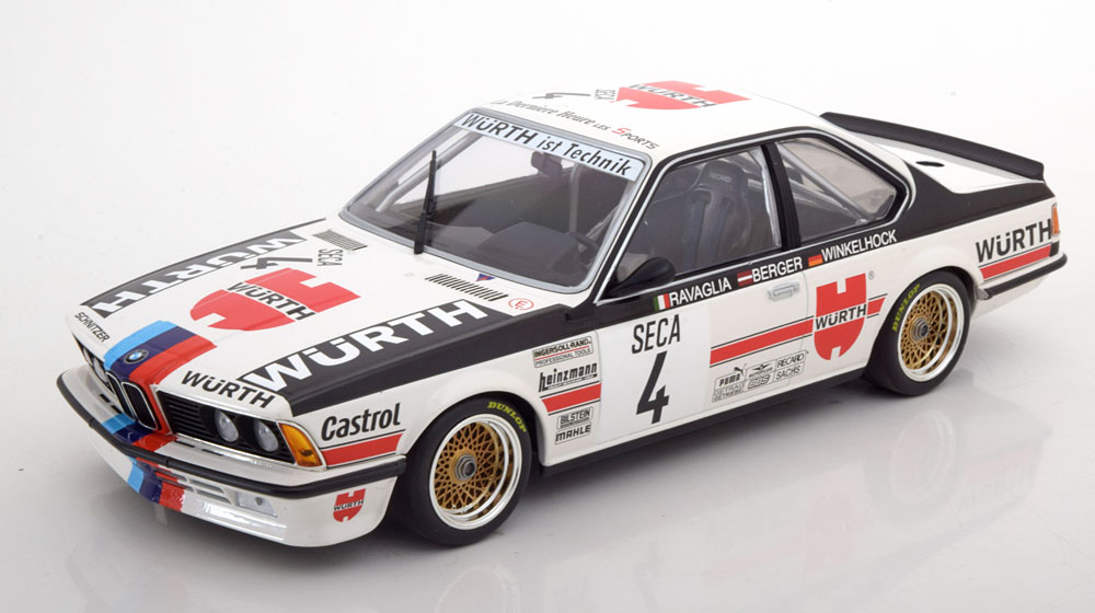 BMW 635 CSI No.4, 24h Spa 1984 Ravaglia/Berger/Winkelhock 1-18 Minichamps Limited 354 Pieces