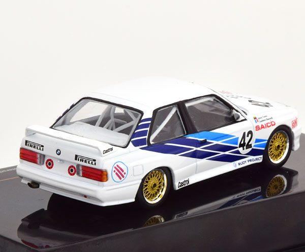 BMW M3 E30 No.42, WTCC Dijon 1987 Cecotto/Brancatelli 1-43 Ixo Models