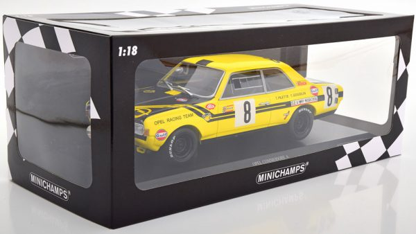 Opel Commodore A Steinmetz No.8, 24h Spa 1970 Pilette/Gosselin 1-18 Minichamps Limited 200 Pieces
