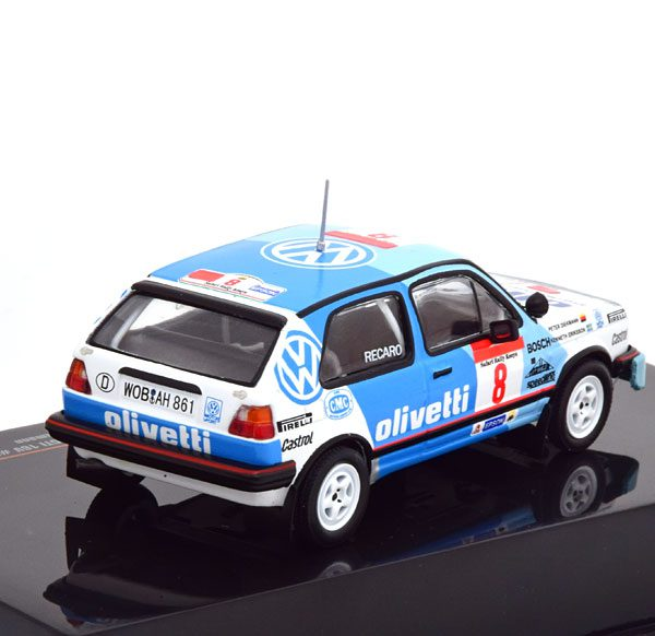Volkswagen Golf II GTI No.8, Safari Rally WM 1987 Ericsson/Diekmann 1-43 Ixo Models