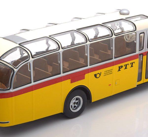 "Saurer L4C PTT ""Zwitserland""1959 Geel/Rood 1-43 Ixo Models"