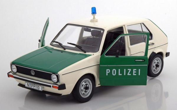 """Volkswagen Golf MK1 1974-1978 """"Polizei """"Groen / Wit 1-18 Solido"""
