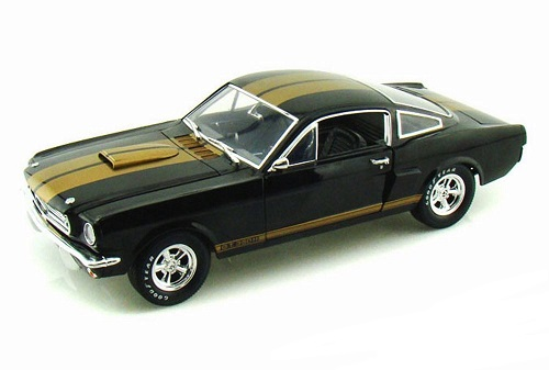 Shelby GT 350H 1966 Zwart / Goude Strepen 1-18 Shelby Collectibles
