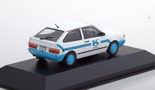 Volkswagen Gol Sabesp Saneamento Basico Wit / Blauw 1-43 Altaya