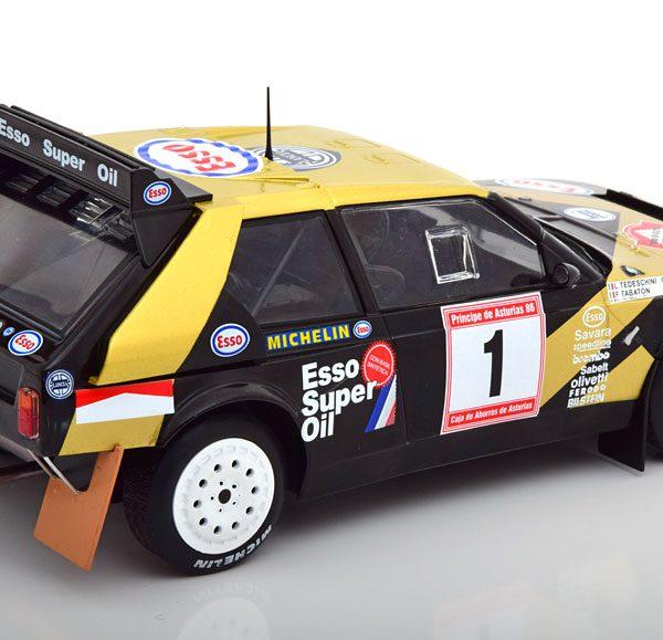 Lancia Delta S4 Rally Austurias 1986 Tabaton/Tedeschini 1:18 Zwart/Goud Solido