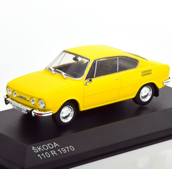 Skoda 110R 1970 Geel 1-43 Whitebox Limited 1000 Pieces
