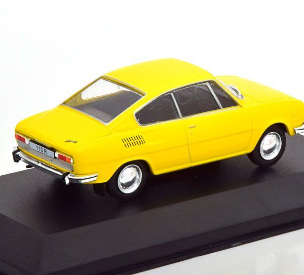 Skoda 110R 1970 Geel 1-43 Whitebox Limited 1000 Pieces