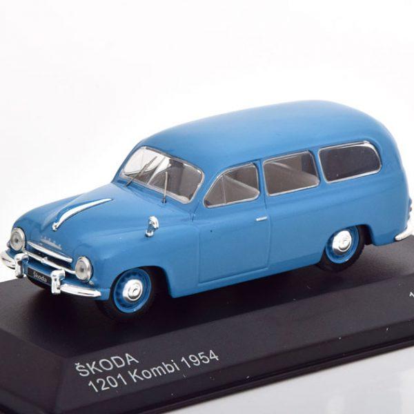 Skoda 1201 Kombi 1954 Blauw 1-43 Whitebox Limited 1000 Pieces