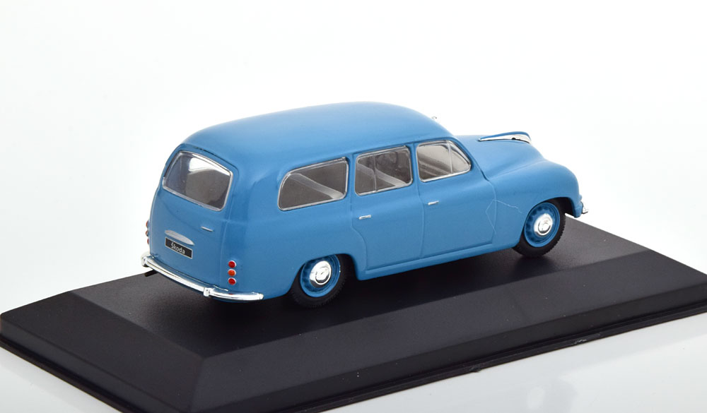 Skoda 1201 Kombi 1954 Blauw 1-43 Whitebox Limited 1000 Pieces