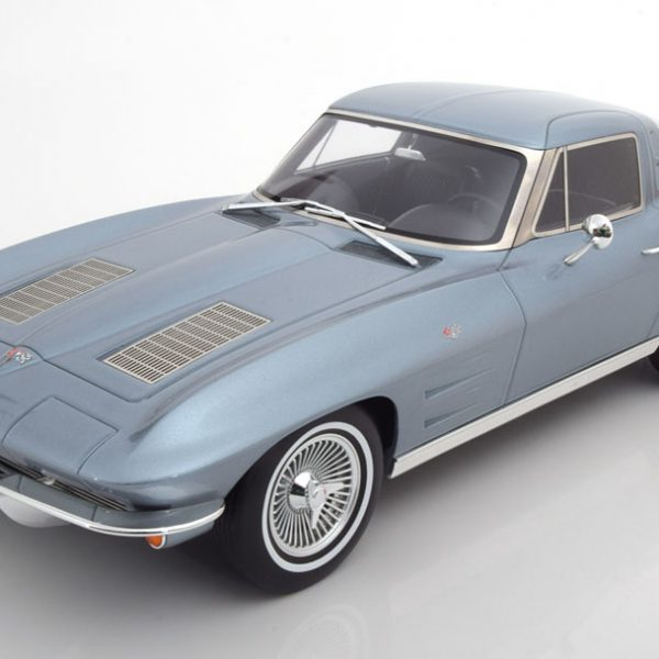 Chevrolet Corvette C2 Stingray 1963 Blauw Metallic 1-12 GT Spirit Limited 999 Pieces