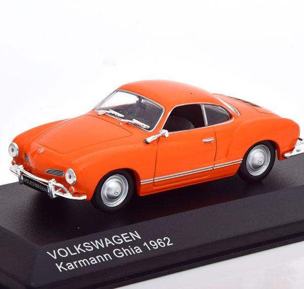 Volkswagen Karmann Ghia 1962 Oranje 1-43 Whitebox Limited 1000 Pices