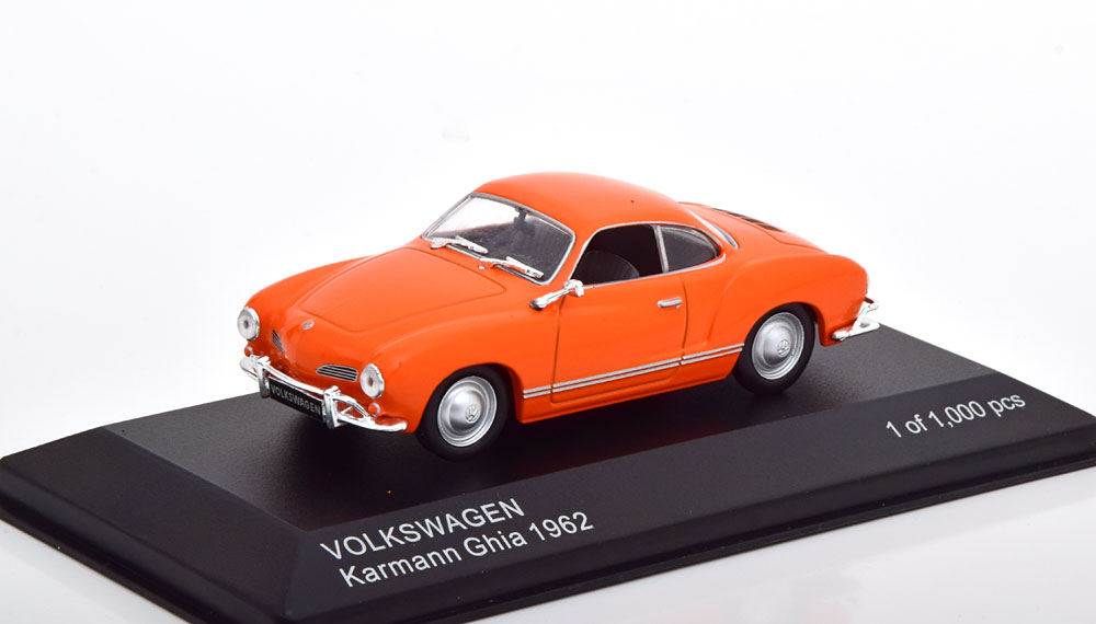 Volkswagen Karmann Ghia 1962 Oranje 1-43 Whitebox Limited 1000 Pices
