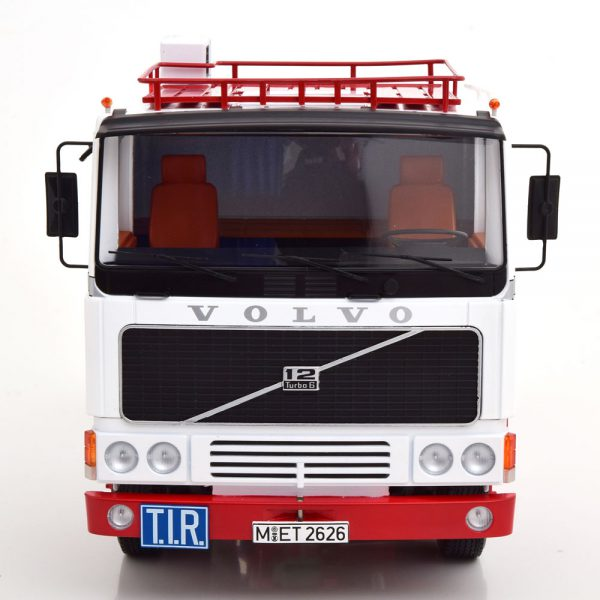 Volvo F1220 1977 Wit / Rood 1-18 Road kings Limited 1000 Pieces