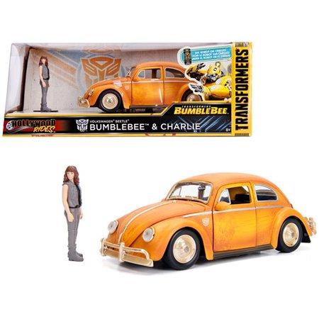 Volkswagen Beetle - Transformers Bumblebee & Charlie Geel 1-24 Jada Toys