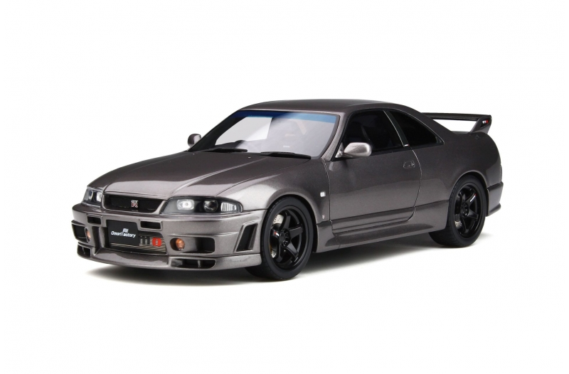 "Nissan Skyline GT-R ''Grand Touring Car'' by Omori Factory (BCNR33) 2016 Grey ""Omori Factory"" 1-18 Ottomobile Limited 2000 Pieces"
