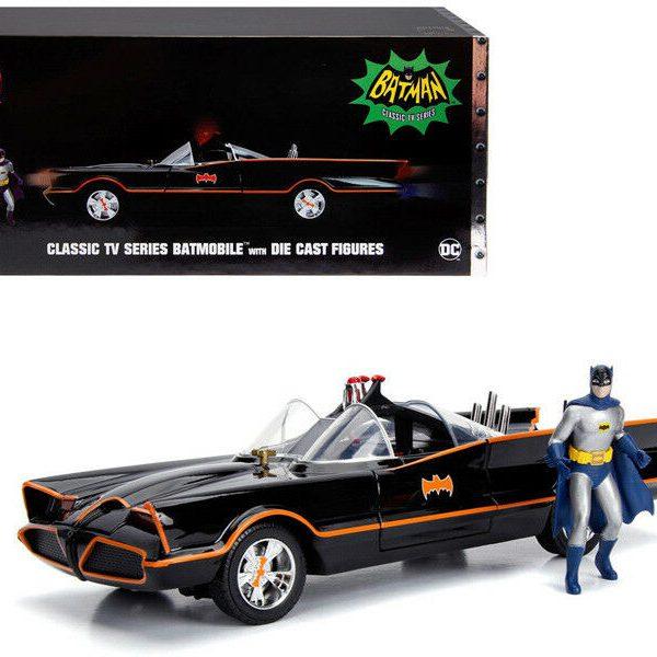 Batmobile Batman Classic 1966 TV Series + Figuren + Lights 1:18 Jada Toys
