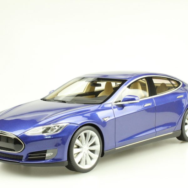 Tesla Model S 2012 Blauw Metallic 1-18 LS Collectibles Limited 250 Pieces
