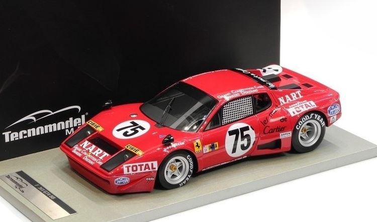 Ferrari 365GTB 4 IMSA Le Mans 1977 #75 NART Migault / Guitteny / Cocholopez 1-18 Tecnomodel Limited 120 Pieces