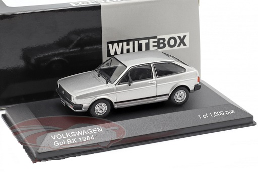 Volkswagen VW Gol BX 1984 Zilver Metallic 1:43 WhiteBox Limited 1000 Pieces