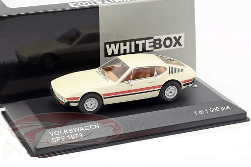 Volkswagen SP2 1973 crème / rood 1:43 WhiteBox Limited 1000 Pieces