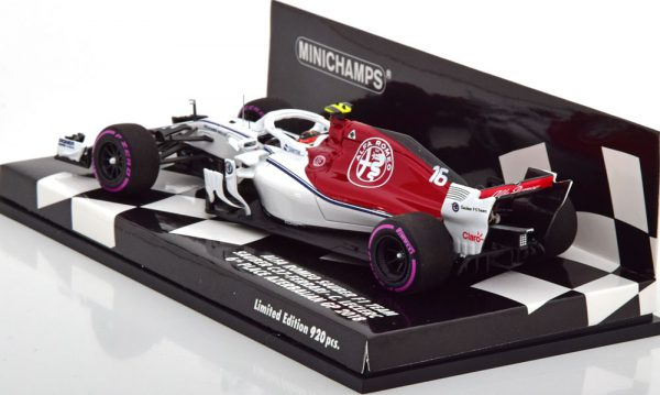 Alfa Romeo Sauber F1 Team C37-Ferrari 6th GP Azerbaijan 2018 C.Leclerk 1-43 Minichamps Limited 920 Pieces