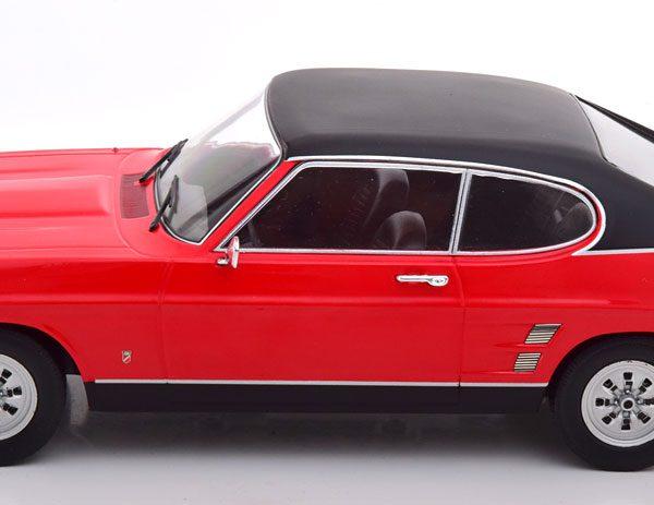 Ford Capri 1600 GT MK I 1973 Rood / Zwart 1-18 MCG Models