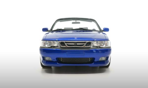 Saab 9-3 Viggen Convertible 1999 Blauw Metallic 1-18 DNA Collectibles Limited 350 Pieces
