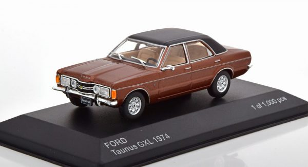 Ford Taunus GXL 1974 Bruin Metallic / Zwart 1-43 Whitebox Limited 1000 Pieces
