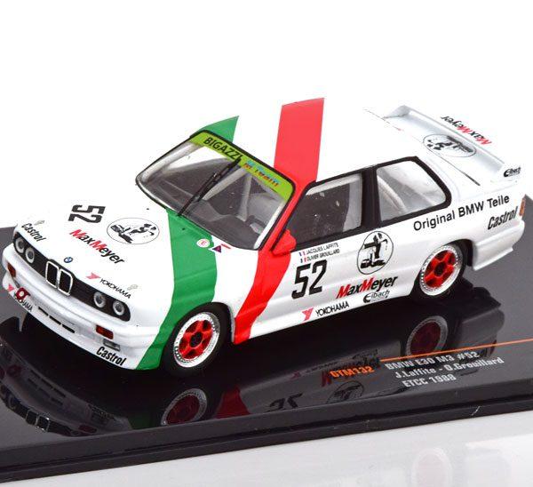 BMW M3 E30 No.52, ETCC 1988 Laffite/Grouillard 1-43 Ixo Models